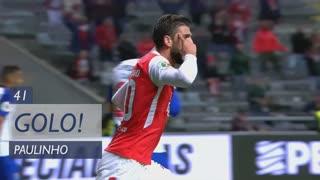GOLO! SC Braga, Paulinho aos 41', SC Braga 1-0 FC Porto