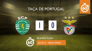 Taça de Portugal (Meias-Finais): Resumo Flash Sporting CP 1-0 SL Benfica