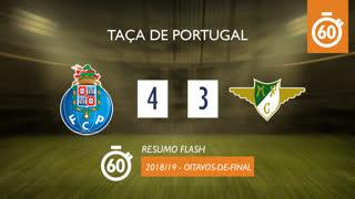 Taça de Portugal (Oitavos de Final): Resumo Flash FC Porto 4-3 Moreirense FC