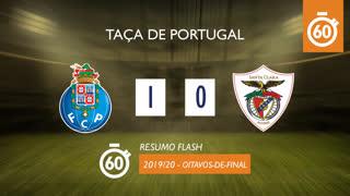 Taça de Portugal (Oitavos de Final): Resumo Flash FC Porto 1-0 Santa Clara
