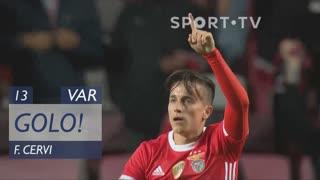 GOLO! SL Benfica, F. Cervi aos 13', SL Benfica 1-1 Rio Ave FC