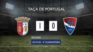 Taça de Portugal (4ª Eliminatória): Resumo SC Braga 1-0 Gil Vicente FC
