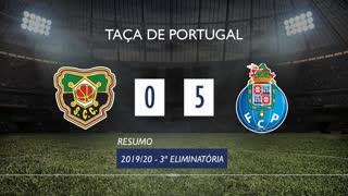 Taça de Portugal (3ª Eliminatória): Resumo Coimbrões 0-5 FC Porto