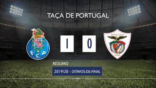 Taça de Portugal (Oitavos de Final): Resumo FC Porto 1-0 Santa Clara