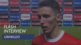 Taça de Portugal (Meias-Finais - 1ª Mão): Flash Interview Grimaldo