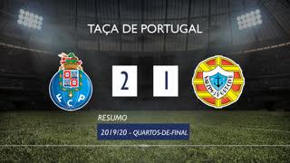 Taça de Portugal (Quartos de Final): Resumo FC Porto 2-1 Varzim SC