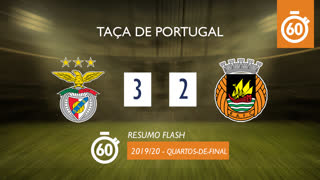 Taça de Portugal (Quartos de Final): Resumo Flash SL Benfica 3-2 Rio Ave FC