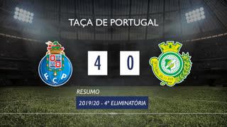 Taça de Portugal (4ª Eliminatória): Resumo FC Porto 4-0 Vitória FC