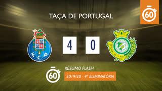 Taça de Portugal (4ª Eliminatória): Resumo Flash FC Porto 4-0 Vitória FC