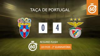 Taça de Portugal (3ª Eliminatória): Resumo Flash CD C. Piedade 0-4 SL Benfica