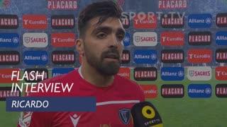 Taça de Portugal (Meias-Finais - 2ª Mão): Flash Interview Ricardo
