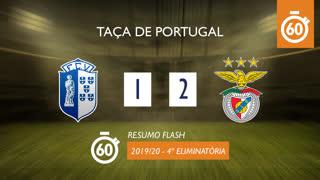 Taça de Portugal (4ª Eliminatória): Resumo Flash Vizela 1-2 SL Benfica