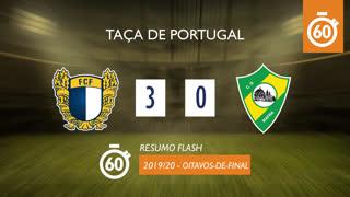 Taça de Portugal (Oitavos de Final): Resumo Flash FC Famalicão 3-0 CD Mafra