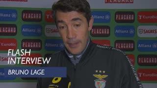 Taça de Portugal (Meias-Finais - 1ª Mão): Flash Interview Bruno Lage