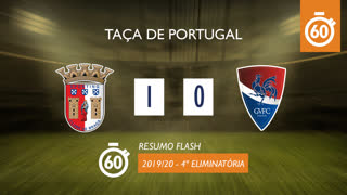 Taça de Portugal (4ª Eliminatória): Resumo Flash SC Braga 1-0 Gil Vicente FC