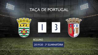 Taça de Portugal (3ª Eliminatória): Resumo Leça 1-3 SC Braga