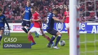 SL Benfica, Caso, Grimaldo aos 47'