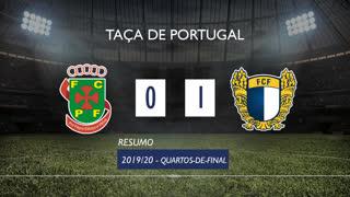 Taça de Portugal (Quartos de Final): Resumo FC P.Ferreira 0-1 FC Famalicão