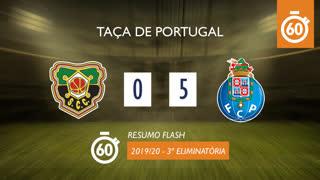 Taça de Portugal (3ª Eliminatória): Resumo Flash Coimbrões 0-5 FC Porto