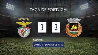 Taça de Portugal (Quartos de Final): Resumo SL Benfica 3-2 Rio Ave FC