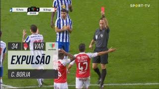 SC Braga, Expulsão, C. Borja aos 34'