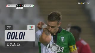 GOLO! Sporting CP, S. Coates aos 26', Sacavenense 0-2 Sporting CP