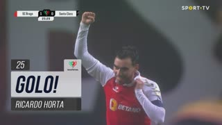 GOLO! SC Braga, Ricardo Horta aos 25', SC Braga 1-0 Santa Clara