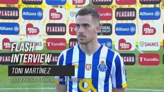 Toni Martínez feliz pelo primeiro golo pelo FC Porto