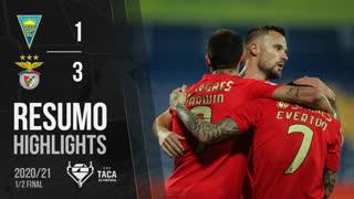 Taça Placard (Meias-Finais): Resumo Estoril Praia 1-3 SL Benfica
