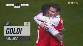 GOLO! SC Braga, Abel Ruiz aos 43', SC Braga 2-0 Santa Clara