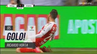 GOLO! SC Braga, Ricardo Horta aos 85', SC Braga 2-0 SL Benfica
