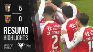 Taça Placard (Oitavos de Final): Resumo SC Braga 5-0 Torreense