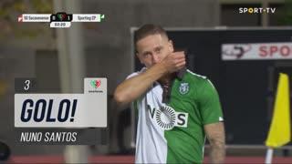 GOLO! Sporting CP, Nuno Santos aos 3', Sacavenense 0-1 Sporting CP