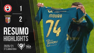 Taça de Portugal (3ª Eliminatória): Resumo Trofense 1-2 SC Braga