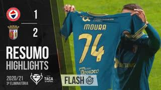 Taça de Portugal (3ª Eliminatória): Resumo Flash Trofense 1-2 SC Braga