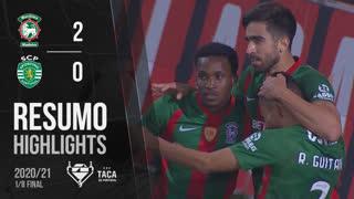Taça Placard (Oitavos de Final): Resumo Marítimo M. 2-0 Sporting CP