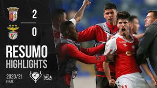 Taça Placard (Final): Resumo SC Braga 2-0 SL Benfica