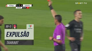 SL Benfica, Expulsão, Taarabt aos 90'+3'