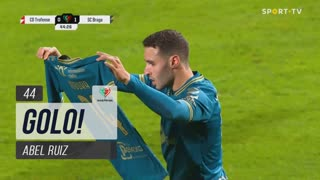 GOLO! SC Braga, Abel Ruiz aos 44', Trofense 0-1 SC Braga