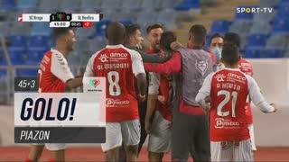 GOLO! SC Braga, Piazon aos 45'+3', SC Braga 1-0 SL Benfica