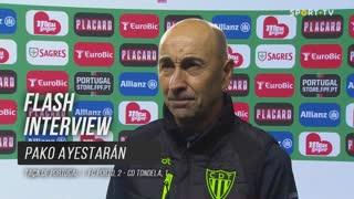 """Pako Ayestarán: """"Muito satisfeitos pelo jogo que fizemos"""""""