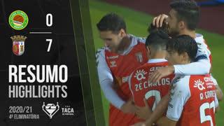 Taça Placard (4ª Eliminatória): Resumo Olímpico do Montijo 0-7 SC Braga