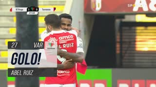 GOLO! SC Braga, Abel Ruiz aos 28', SC Braga 2-0 Torreense