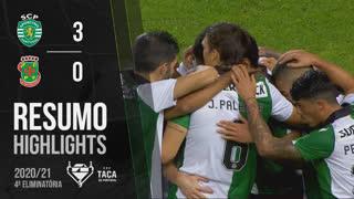 Taça Placard (4ª Eliminatória): Resumo Sporting CP 3-0 FC P.Ferreira