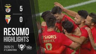 Taça Placard (4ª Eliminatória): Resumo SL Benfica 5-0 Vilafranquense