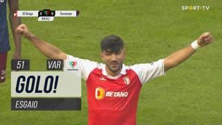 GOLO! SC Braga, Ricardo Esgaio aos 51', SC Braga 3-0 Torreense