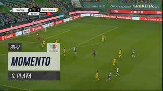 Sporting CP, Jogada, G. Plata aos 90'+3'