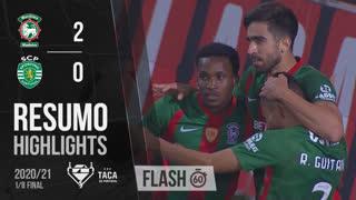 Taça de Portugal (Oitavos de Final): Resumo Flash Marítimo M. 2-0 Sporting CP