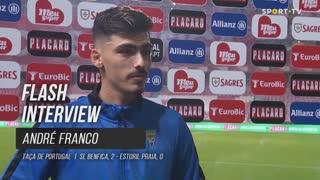 """André Franco: """"Temos de estar contentes por tudo o que fizemos até à meia-final"""""""
