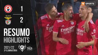 Taça Placard (3ª Eliminatória): Resumo CD Trofense 1-2 SL Benfica